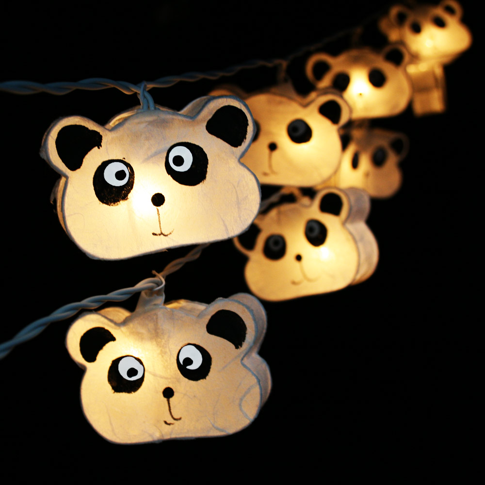 Paper Panda Bear LAMP-0076 Lanterns String Lights/Fairy/Lamp Handmade For Home Decoration/Lighting, LED Available, CE/GS/SAA/UL