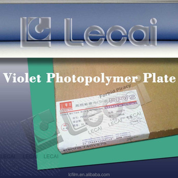 Huaguang High Quality Negative Violet Photopolymer Plate