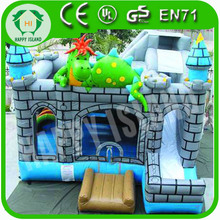 HI CE creative cartoon style inflatable dinosaur bouncer castle for sale