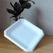 Eco-friendly sugarcane bagasse square paper plate/disposable compostable party plate