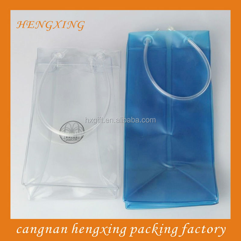 Wine Plastic Wine Cooler Storage PVC Bags With Handle