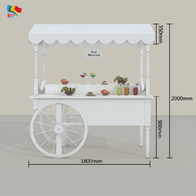 wooden display cart candy wood food carts for sale