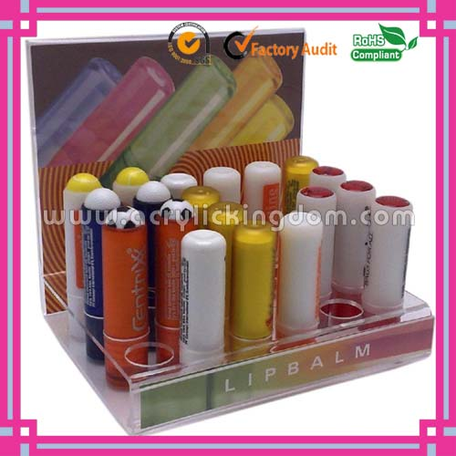 counter top acrylic lip balm display