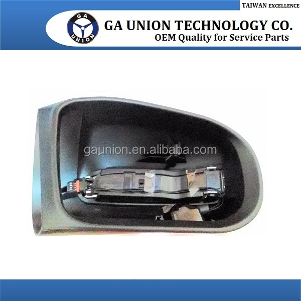 CAR DOOR MIRROR MIRROR PRIMED COVER W/LED LAMP & BULB FOOT LAMP(BLACK COVER) GA-215HS R/L FOR W220 S-CLASS '03-'06 FACELIFT