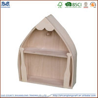 wooden boat for home decoration