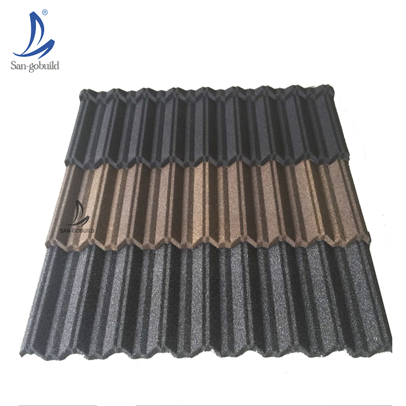 Best-selling Africa Nigeria Kenya System Sand Coated Metal Tile Lowest Price High Quality roofing tiles ghana