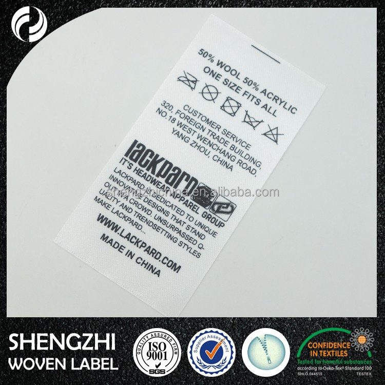 Printed labels,clothes label tags,printing care label