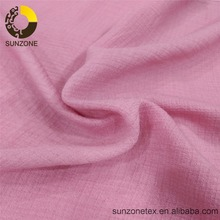 China factory supply crepe rayon/viscose nylon mixed fabric for summer spring autum lady shirt dress of good quality