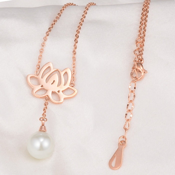 Fashion 18k gold pearl necklace,fashion new design pearl necklace for lady,gold long chain pearl necklace