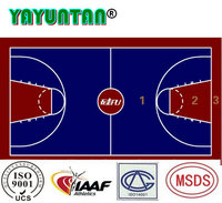 Outdoor polyurethane sports flooring for basketball courts