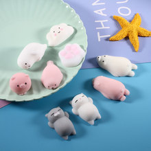 New product TPR colorful soft funny squishy animal squishy slow rising toy sticky toy for kids