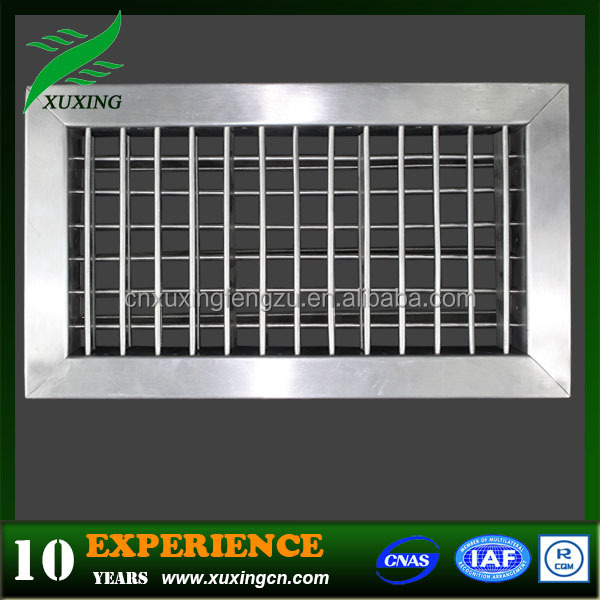 Stainless steel air conditioner louver for hvac systems
