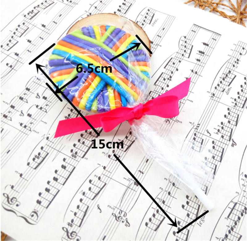 Hot sale lollipop style cute head accessories 24pcs elastic for gril hair band
