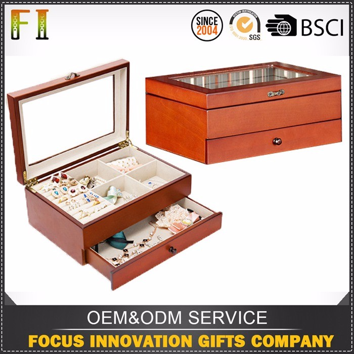 Supply high quality large wooden jewellery box cases for sports for medical equipment machine