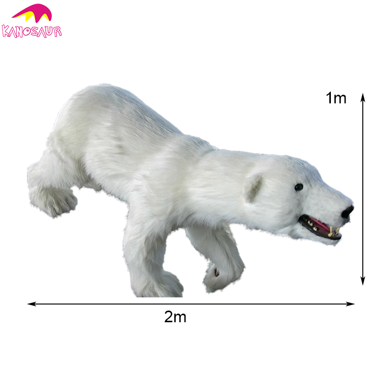 KANO-063 Outdoor Playground Life Size Animatronic Polar Bear