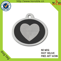custom heart shape Necklaces Type dog tags