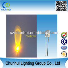 Super Bright High Power yellow 5mm led light emitting diode