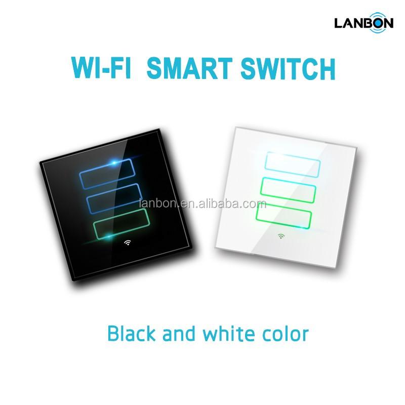 Blanco y negro de cristal 110 250 v wifi inteligente - Cristal inteligente precio ...