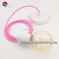 twisted braided electrical cord textile lighting lamp cable enameled aluminum round wire