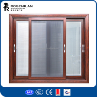 ROGENILAN 150 series cheap prices for glass aluminium windows with mosquito net