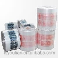 clear plastic film with printed