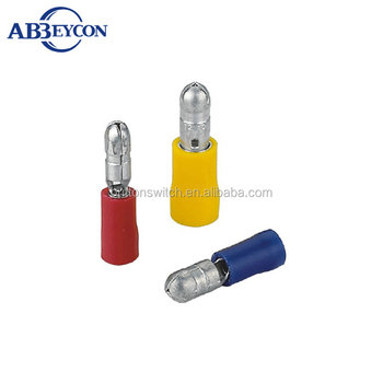 T11-MPD male bullet tinning press terminal solderless connector PVC Bullet Terminal