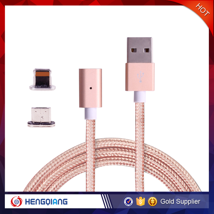 2 in 1 Micro USB Magnetic Charging Data Cable for Apple iPhone, Android Phone