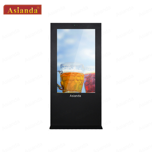 Outdoor Digital Signage Asianda 75 inch Lcd Display Big Outdoor Advertising Screen