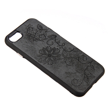 Awish Fashion Dual Layer Protective lagging leather back case for iphone 7 vine flowers phone cover for iphone 6s