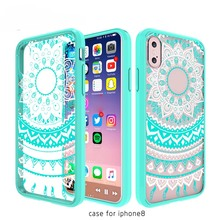 New Product Acrylic Soft TPU Phone Case For Iphone 8,Mobile Phone Accessories