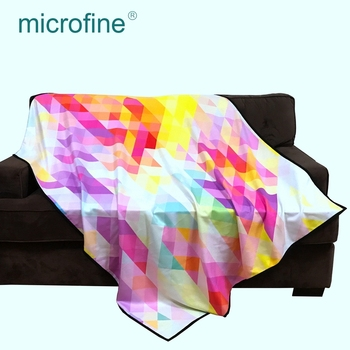 OEM digital printing polyester textiles material fabric cashmere like blanket