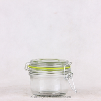 100ml/150ml/250ml Jam Jar with Glass Lid &Silicon Ring