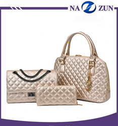 Baoding Factory good quality pu leather cheap 2016 Tote Handbag,Cheap Ladies Handbag3 Pieces Set bags women for sale