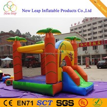 inflatable jungle bouncy castle with with palm tree and monkey printing