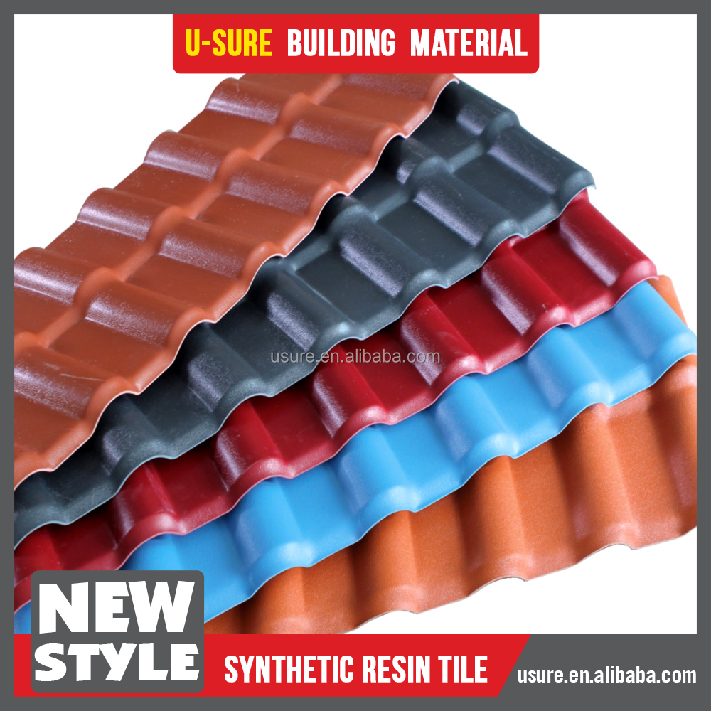 villa roof tile / green and environment friendly types of roof covering / pvc waterproofing materials for roof