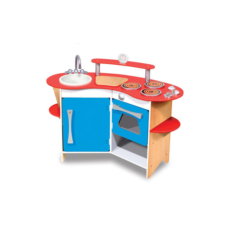 New Design Wooden Babycare Furniture Wooden Happy Kitchen Toys