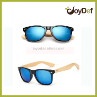 2016 The most popular bamboo wood stylish customized sunglasses with lens
