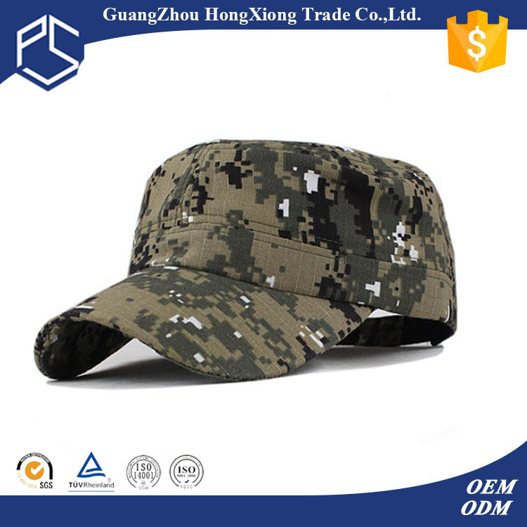 Low MOQ cheap different style types of military caps hats