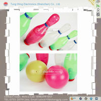 kids plastic children bowling ball, Light music toy bowling set