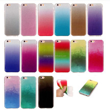 Gradient Glitter Silicone Soft TPU Bling Case Cover For iphone 5s SE 6 6s 6 plus 7 7plus