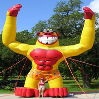 NB-CT20443 Ningbang inflatable yellow and red ape with glasses for outdoor activity or promotion