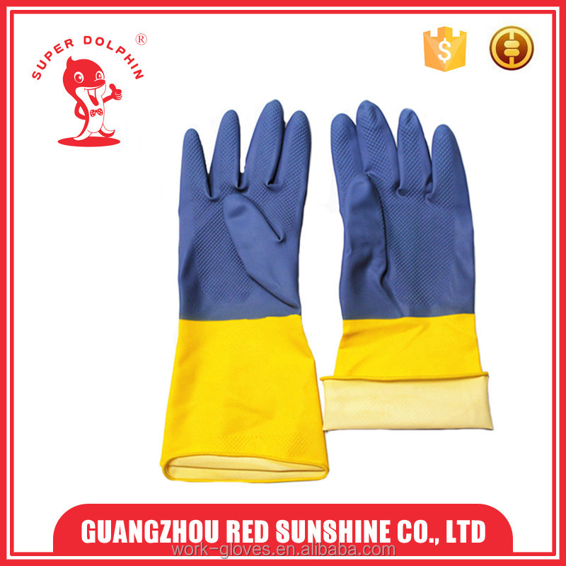 China manufacture latex industrial safety gloves