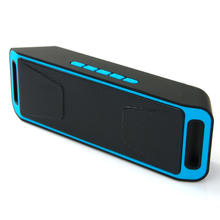 2017 news portable mobile wireless mini bluetooth speaker support U disk, TF card player, FM , SC208