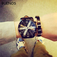 Korean Fashion Elegant Big Dial Couple Student Sport Watch