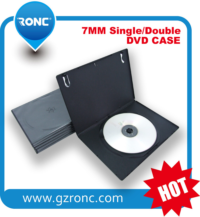 7mm Black PP DVD Box Single Or Double Side DVD case