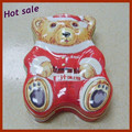 High quality tin funnels bear-shaped tin Xmas gift tin