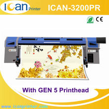 CE approved CMYK+W 3.2m desktop vinyl wrap roll to roll printer with GH2220 / GEN5 heads