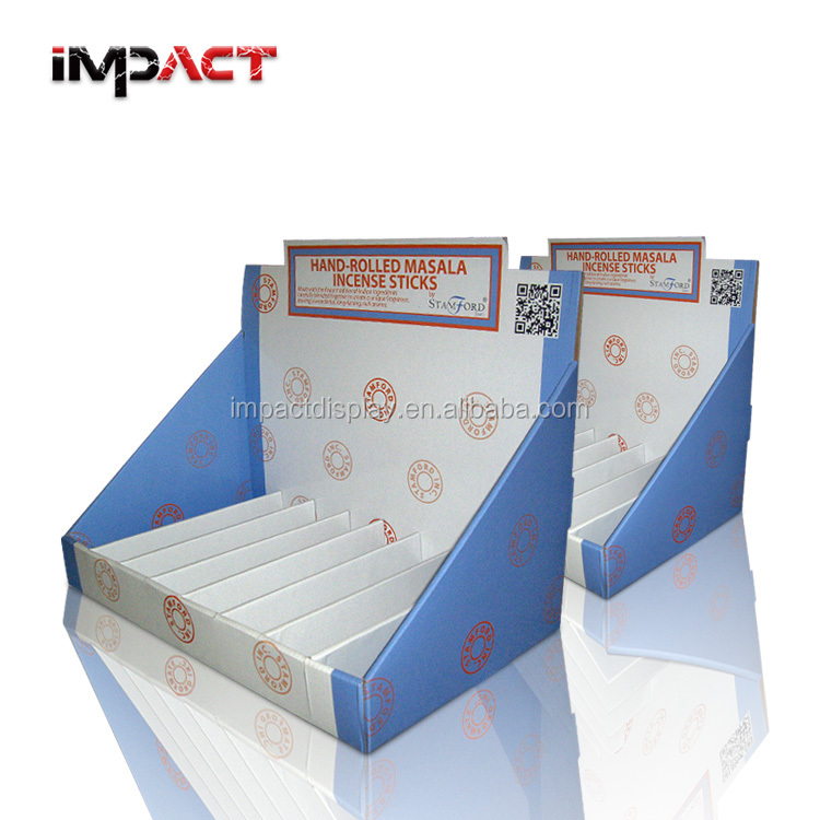 Light Weight Cardboard Counter Display for Incense Sticks