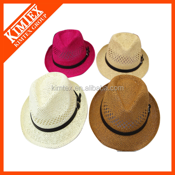 Colombian Folding Straw Fedora Hat