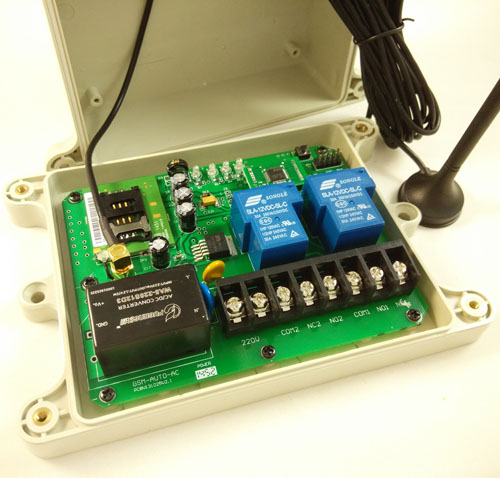 GSM remote control switch box (Type: GSM-AUTO AC type)